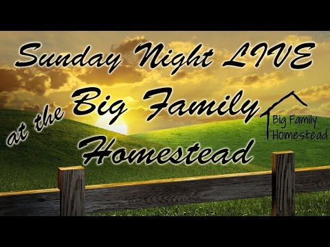 The Homestead Network LIVE with Big Family Homestead 7-3-16