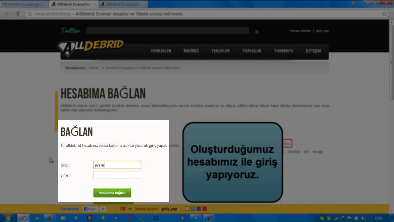 Alldebrid Premium Kod Kullanımı - PremiumTURKIYE.com