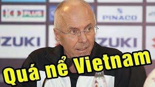 Họp báo sau Việt Nam vs Philippines HLV Eriksson nghẹn ngào