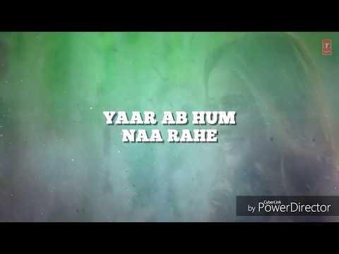 Ek Teri yari ka hi //Lyrics Whatsapp Status //tera year hoon main/@
