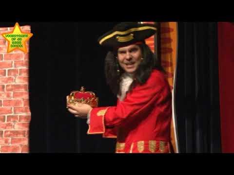 Voorstelling op school presenteert de kindertheatervoorstelling 'Piraat gestrand'