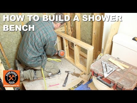 Shower Bench Seat Framing and Construction (Part 1 of Curbed Subway Tile Shower)