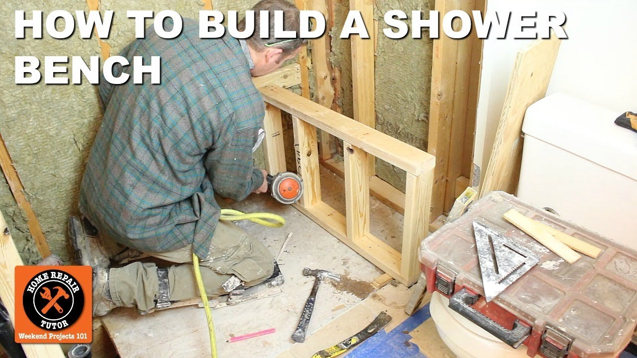 Shower Bench Seat Framing And Construction For Wedi Fundo Primo Step By