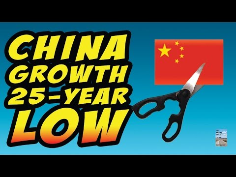 China Growth Hit 25 Year Low as Oil Hits $28 a Barrel Shows Heavy Deflation!