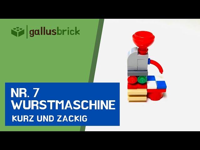 Wie baue ich eine Metzger Wurstmaschine aus LEGO? | Nr. 7 kurz und zackig