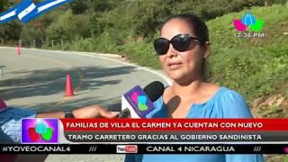 Familias de Villa El Carmen ya cuentan con nuevo tramo carretero gracias al gobierno sandinista