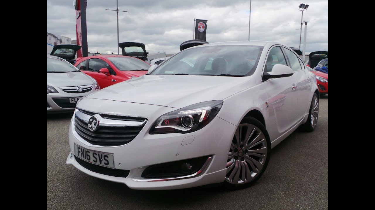 2016 16 vauxhall insignia 2 0 cdti 170ps ecoflex elite nav 5dr start stop demo in white youtube. Black Bedroom Furniture Sets. Home Design Ideas