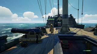 Sea of Thieves - The Hungering One Megalodon shark (full attack)