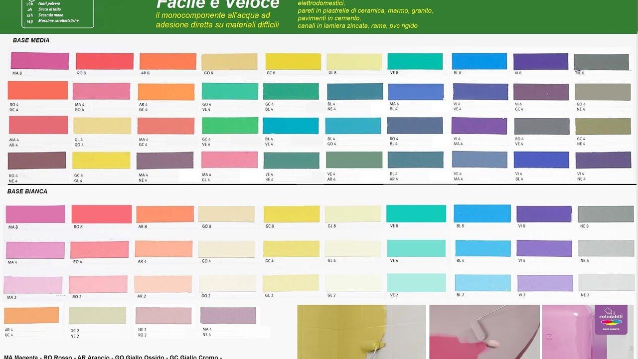 Catalogo Colori Per Pareti facile e veloce verniciare le piastrelle