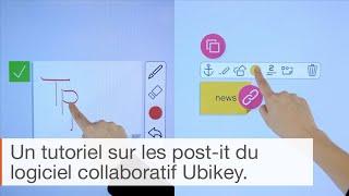 Tutoriel logiciel collaboratif Ubikey : Comment utiliser les post-it ?