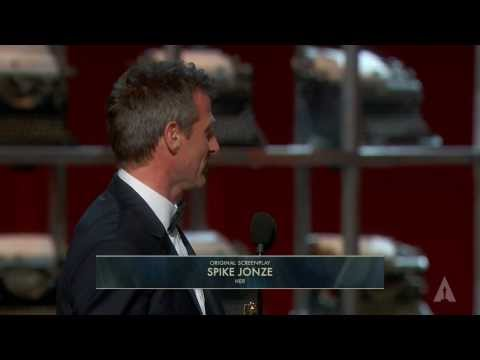 Spike Jonze winning Best Original Screenplay for