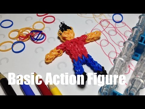Making a Basic Action Figure on the Rainbow Loom