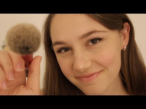 ASMR - Gently Stippling, Dabbing and Brushing Your Face ♡