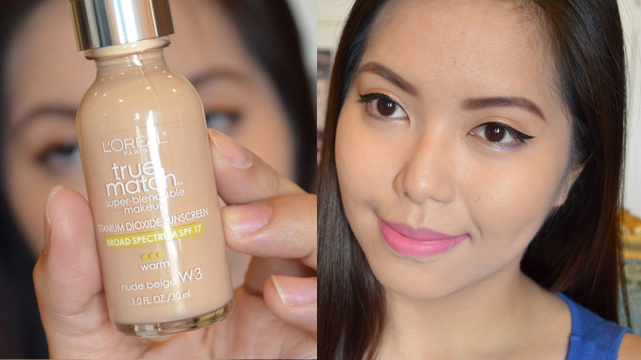 L Oreal True Match Super Blendable Makeup Before After. L Oreal True Match Foundation Review