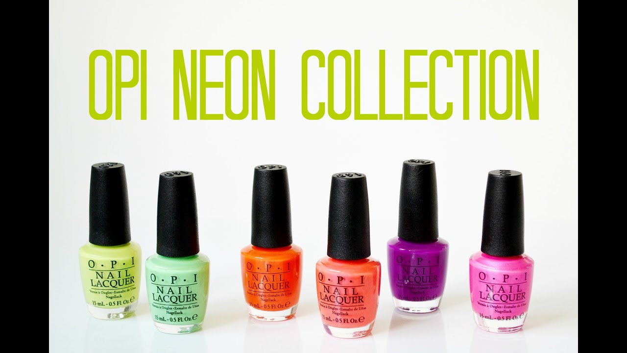 Review and Swatches: OPI Neon Collection - YouTube
