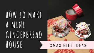 How to make a tiny GINGERBREAD HOUSE!