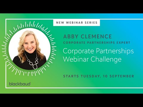 Take the Corporate Partnerships Webinar Challenge with Abby Clemence