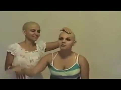 Submissive women head shaven