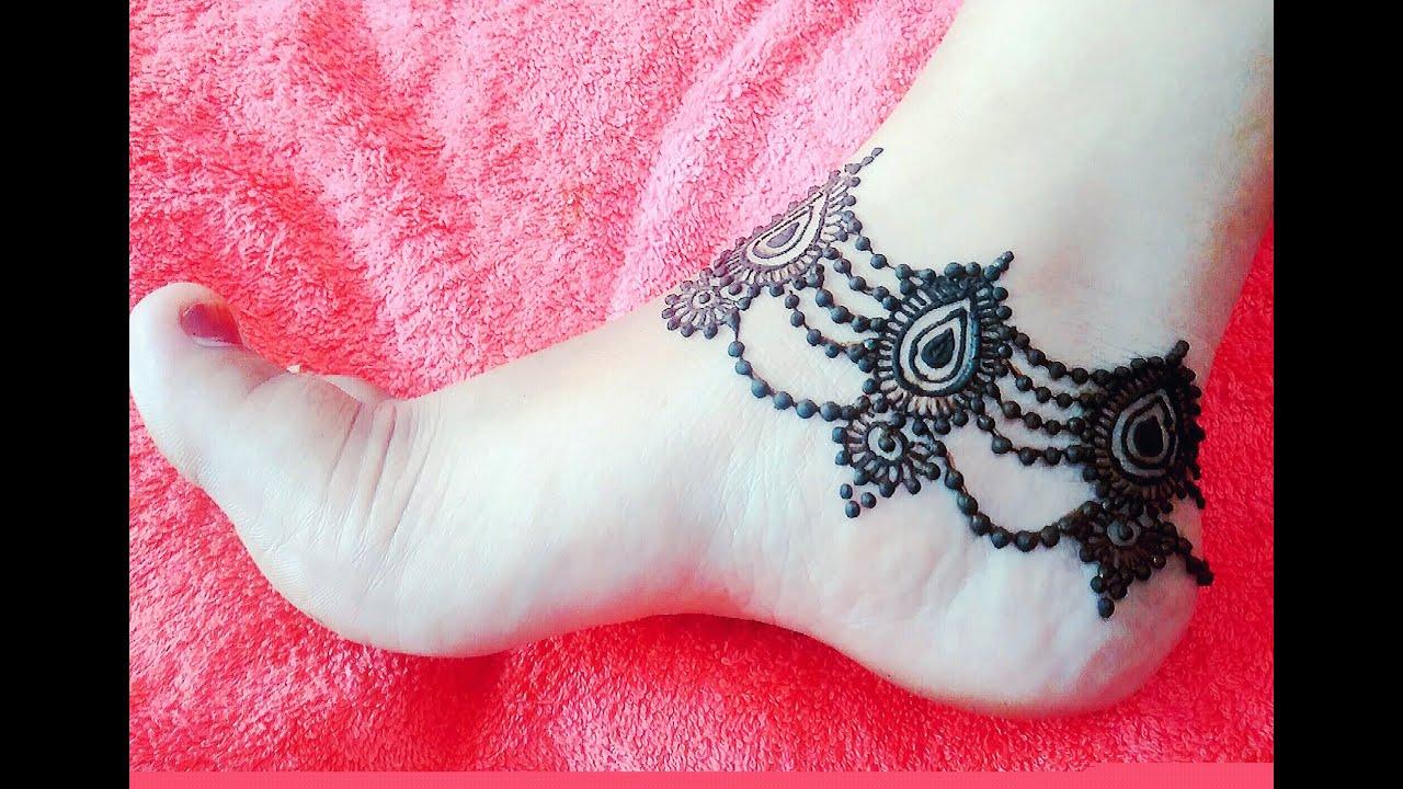 Beautiful Anklet Mehndi | Design Payal | Mehndi Pazeb Henna For ...
