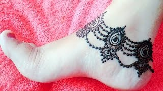 beautiful anklet mehndi   design payal   mehndi pazeb henna for eid naush artistica
