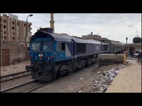 (HD) Egyptian Railways Class 66s On Passenger Trains March 2019