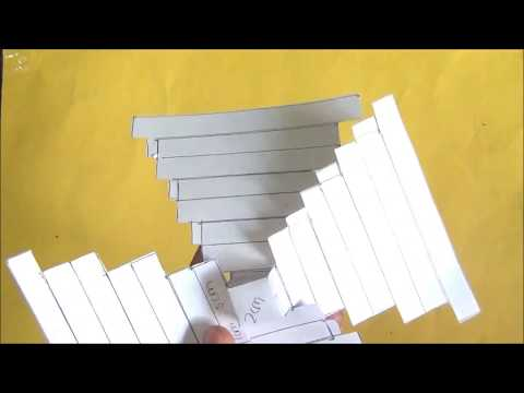 How to make pyramid model using paper