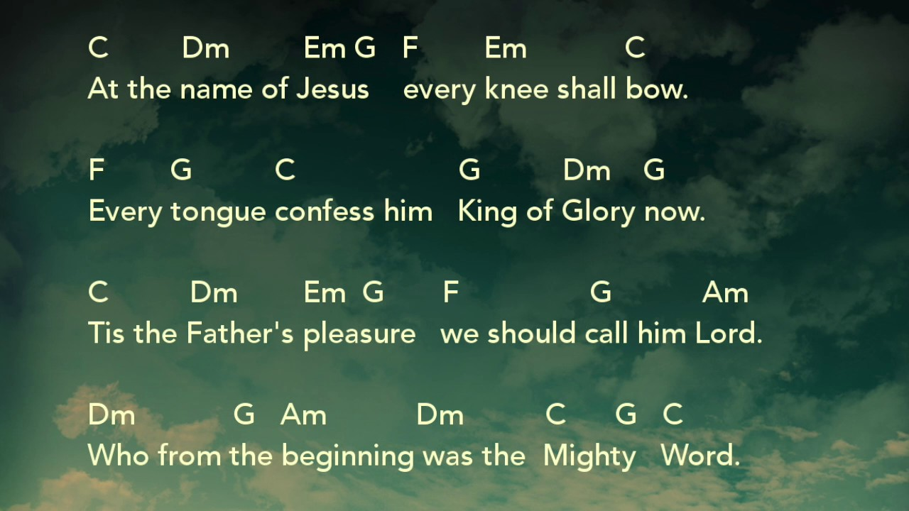 At The Name Of Jesus Acoustic Guitar Chords Uk Youtube