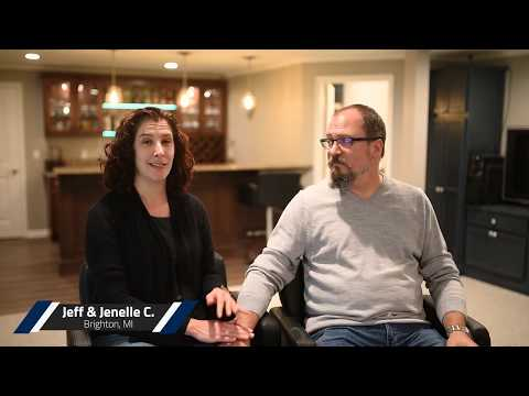 Jeff & Jenelle C. in Brighton, MI | Video Testimonial | Basement Finishing