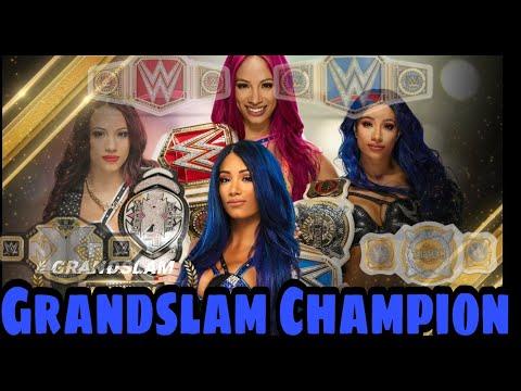 Grandslam Champion Sasha Banks |Every title wins|