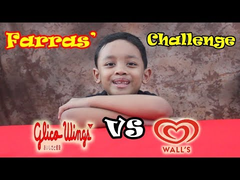 #10 Farras' Challenge Ice Cream Glico Wings vs Walls