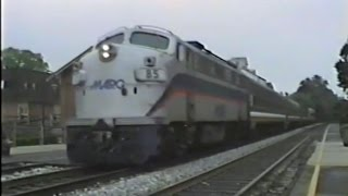 MARC Train - Gaithersburg Maryland  - July 5 1991