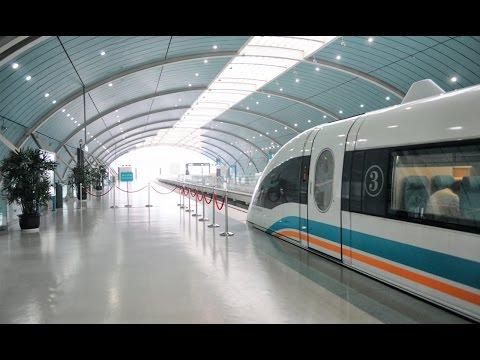 59. Shanghai Mag-Lev High Speed Train Ride. Start to Finish