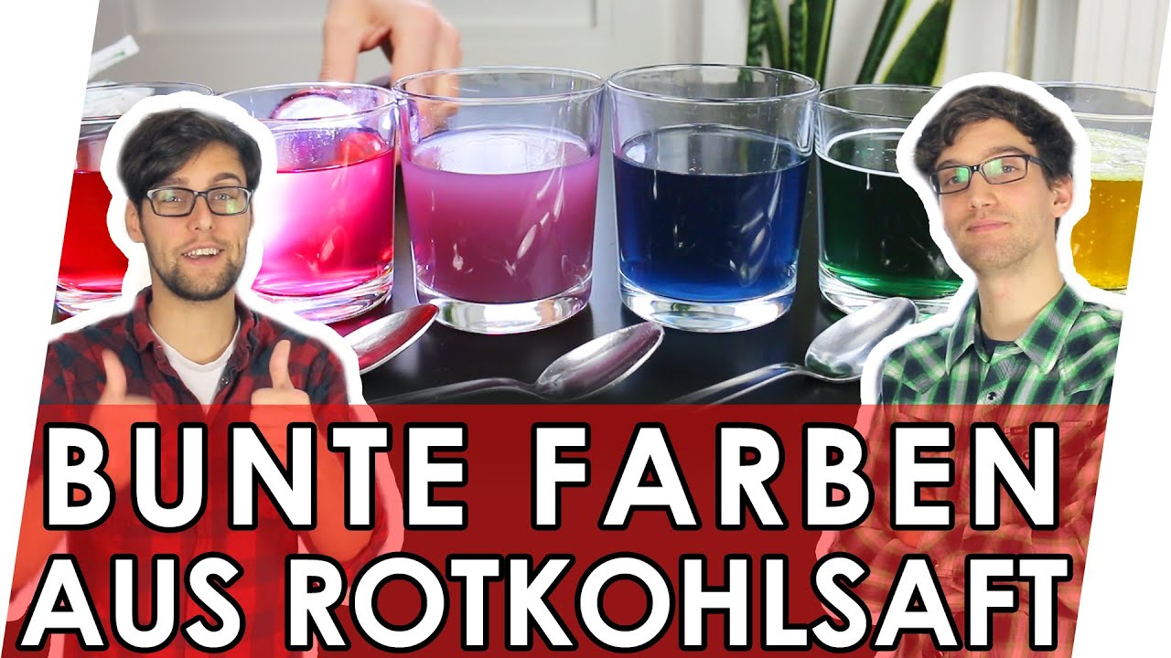 experimente zum nachmachen rotkohlsaft als indikator youtube. Black Bedroom Furniture Sets. Home Design Ideas