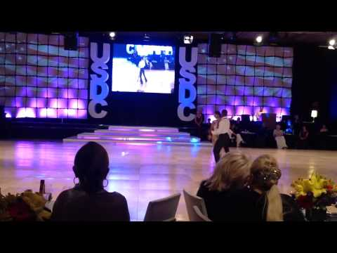Emmanuel Pierre-Antoine & Liana Churilova at the 2014 United States Dance Championships