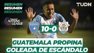 GOLES Guatemala 10 - 0 Anguila | CONCACAF Nations League - Jornada 1 | TUDN