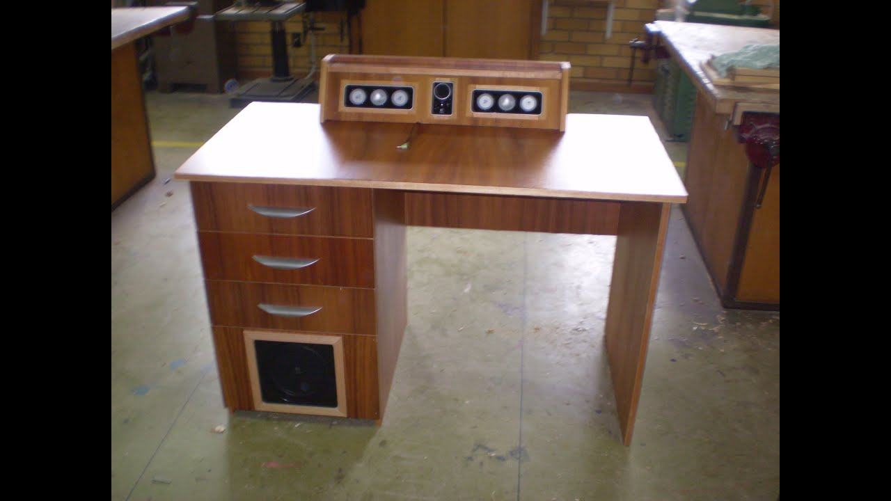 Speakers Built Into Computer Desk Youtube