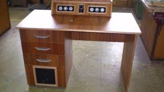 Speakers Built Into Computer Desk!