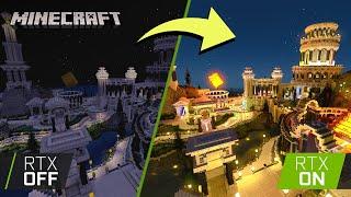 Blockworks' Alien Tech World | Minecraft with RTX Build Challenge