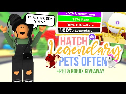 Working How To Hatch A Legendary Pet In Adopt Me Sunsetsafari Youtube