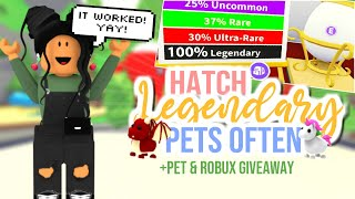 *WORKING*  How to Hatch A LEGENDARY PET in Adopt Me!!!| SunsetSafari
