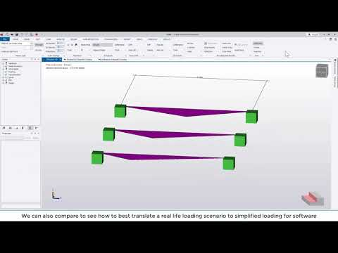 Tekla Structural Designer 2020 - Load analysis view