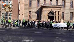 Protest held in Glasgow against Orange Order parades passing Catholic churches |The Glasgow Sloth