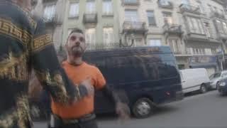 bagarre dans les rue de bruxelles et des mots raciste