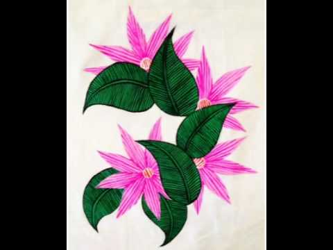 Fabric Painting : Floral Designs - YouTube