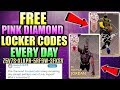 FREE PINK DIAMOND LOCKER CODES EVERY SINGLE DAY IN NBA 2K18 MYTEAM