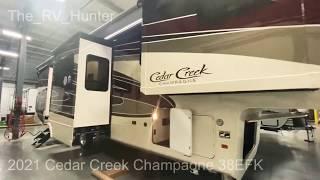 2021 Cedar Creek Champagne 38EFK Full Body Paint Luxury - 6 slide front kitchen fifth wheel  😳