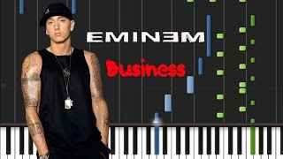 Eminem - Business [Piano Tutorial] (♫)