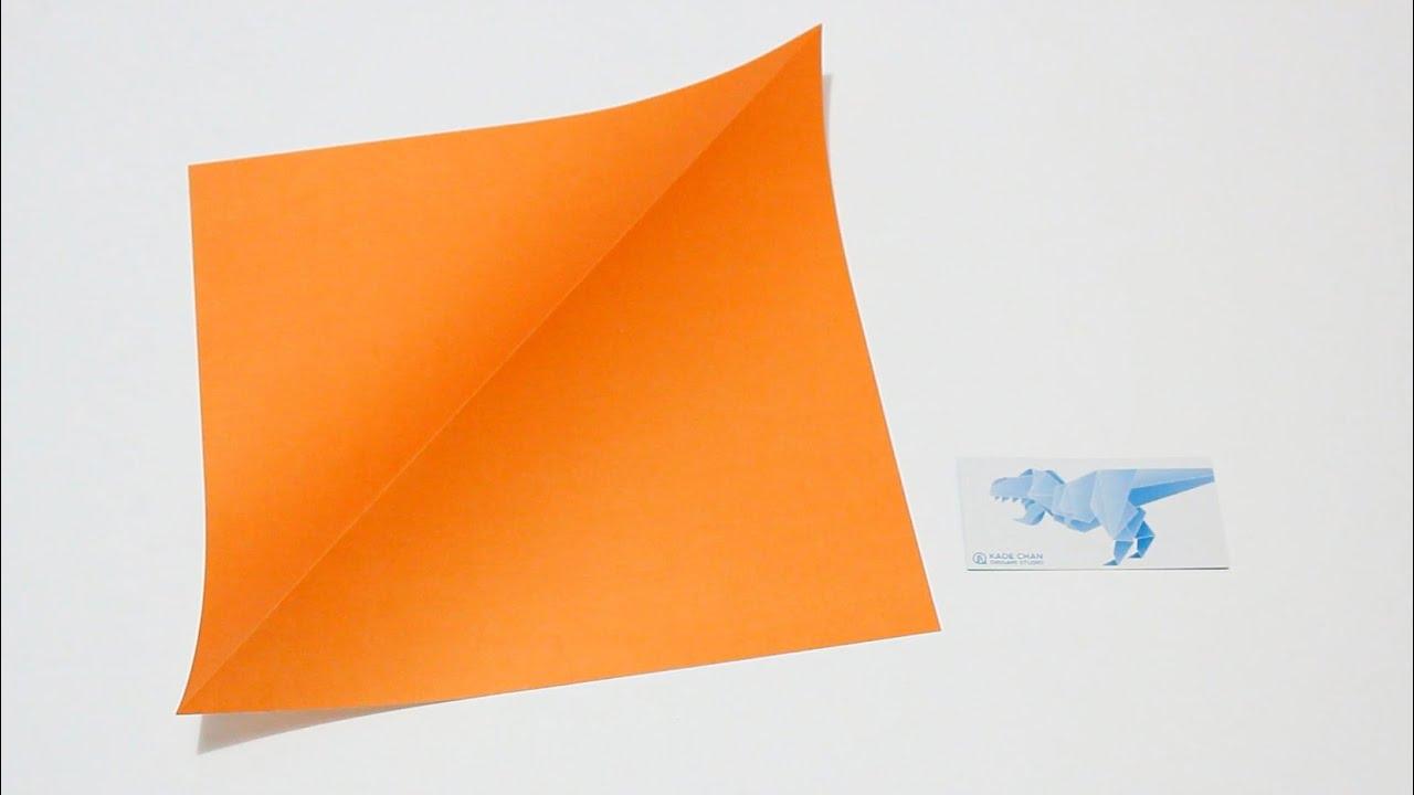 Origami Basics 1 How To Fold Mountain Fold 1