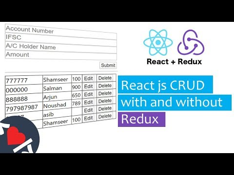 React CRUD with and without REDUX