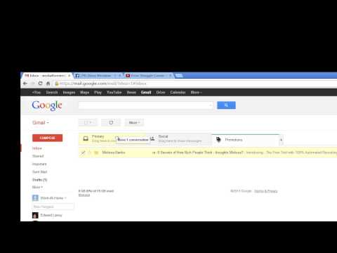 Gmail Inbox Trick - how to move email from promotions tab into primary tab